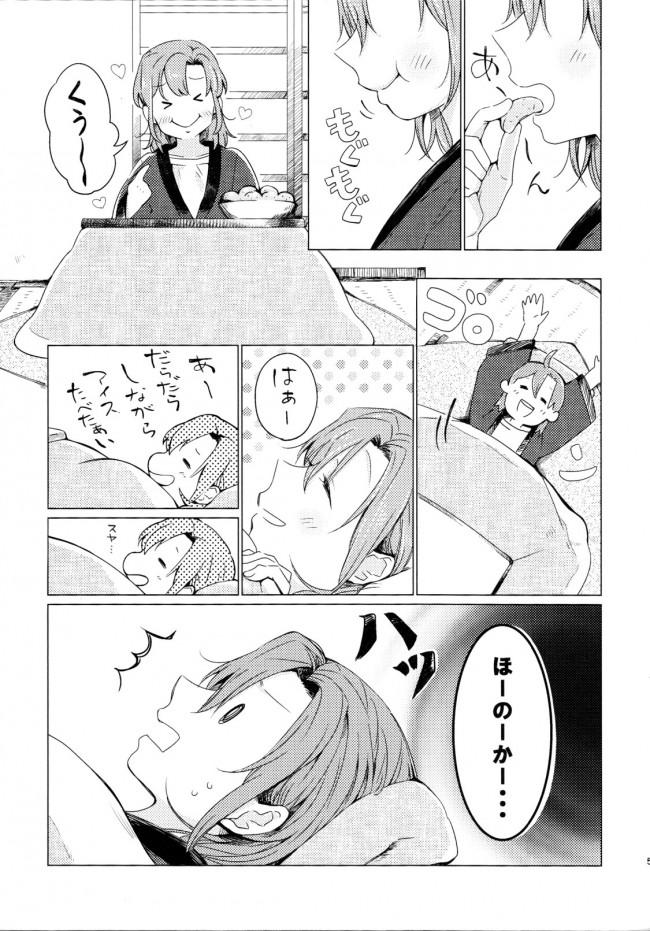 【ラブライブ! エロ漫画・エロ同人】こたつラプソディ[しょぼコン] (4)