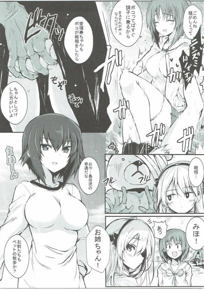 【ガルパン エロ漫画・エロ同人】ただしいボコのしつけかた (12)