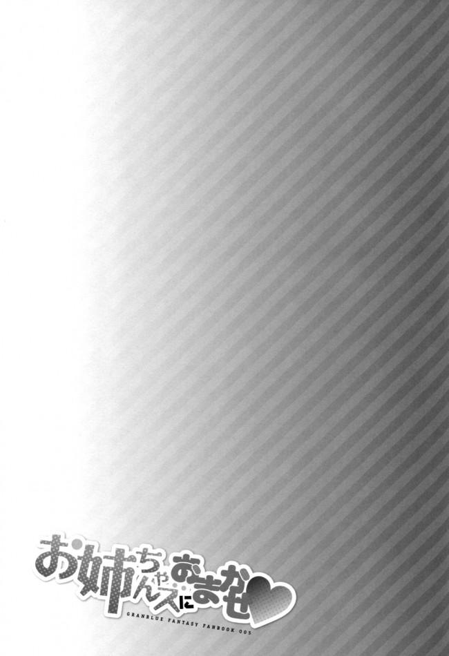 【グラブル エロ同人】敵の攻撃でグランの勃起が収まらなくなり、治す為に100回射精することに~!?ヘルエスはが腋コキでヌいたり・・・みんなの乱交ハーレムセックスを見てガマンできなくなり、おねだりしながら騎乗位挿入するナルメア♡ (25)
