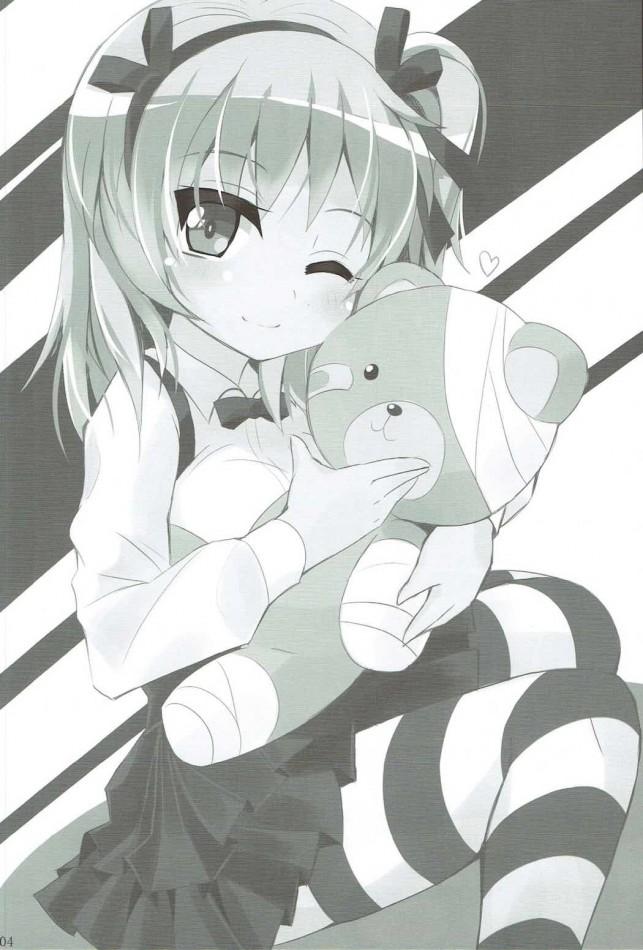 【ガルパン エロ漫画・エロ同人】愛里寿ちゃんと着ぐるみ◯ックス (3)