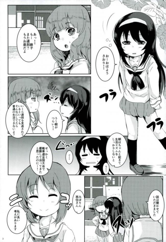 【ガルパン エロ漫画・エロ同人】すいみん学習作戦です。 (2)