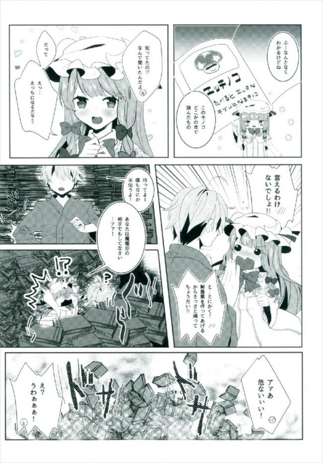 【東方 エロ漫画・エロ同人】えっちな幻想郷~パチュリーとえっちな魔法編~ (7)